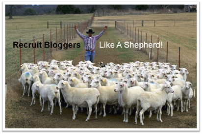 Blogger recruitment