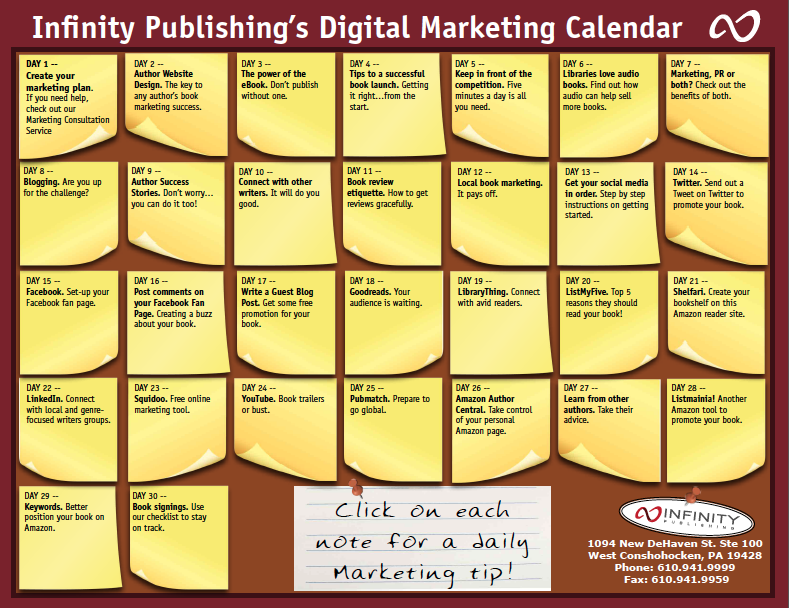 30 Day Guide to Book Promotion